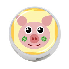 Luck Lucky Pig Pig Lucky Charm 4 Port Usb Hub (two Sides)  by Celenk