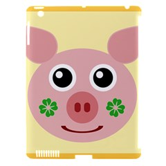 Luck Lucky Pig Pig Lucky Charm Apple Ipad 3/4 Hardshell Case (compatible With Smart Cover) by Celenk