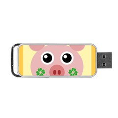 Luck Lucky Pig Pig Lucky Charm Portable Usb Flash (two Sides) by Celenk