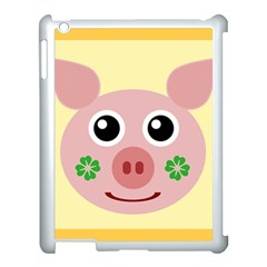 Luck Lucky Pig Pig Lucky Charm Apple Ipad 3/4 Case (white) by Celenk