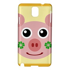 Luck Lucky Pig Pig Lucky Charm Samsung Galaxy Note 3 N9005 Hardshell Case by Celenk