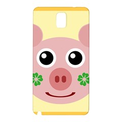 Luck Lucky Pig Pig Lucky Charm Samsung Galaxy Note 3 N9005 Hardshell Back Case by Celenk