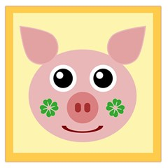 Luck Lucky Pig Pig Lucky Charm Large Satin Scarf (square) by Celenk