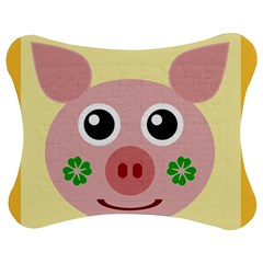 Luck Lucky Pig Pig Lucky Charm Jigsaw Puzzle Photo Stand (bow) by Celenk