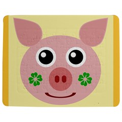 Luck Lucky Pig Pig Lucky Charm Jigsaw Puzzle Photo Stand (rectangular)