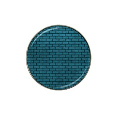 Brick1 Black Marble & Teal Leather Hat Clip Ball Marker (4 Pack) by trendistuff