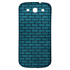 Brick1 Black Marble & Teal Leather Samsung Galaxy S3 S Iii Classic Hardshell Back Case by trendistuff