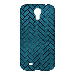 Brick2 Black Marble & Teal Leather Samsung Galaxy S4 I9500/i9505 Hardshell Case by trendistuff