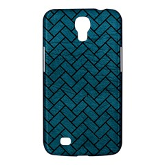 Brick2 Black Marble & Teal Leather Samsung Galaxy Mega 6 3  I9200 Hardshell Case by trendistuff