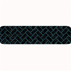 Brick2 Black Marble & Teal Leather (r) Large Bar Mats by trendistuff