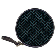 Brick2 Black Marble & Teal Leather (r) Classic 20 Cd Wallets by trendistuff