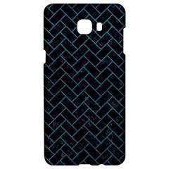 Brick2 Black Marble & Teal Leather (r) Samsung C9 Pro Hardshell Case  by trendistuff