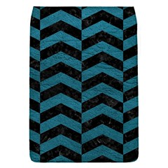 Chevron2 Black Marble & Teal Leather Flap Covers (s)  by trendistuff