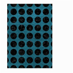 Circles1 Black Marble & Teal Leather Large Garden Flag (two Sides) by trendistuff
