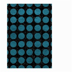 Circles1 Black Marble & Teal Leather (r) Small Garden Flag (two Sides) by trendistuff