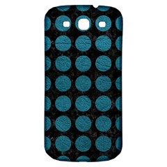 Circles1 Black Marble & Teal Leather (r) Samsung Galaxy S3 S Iii Classic Hardshell Back Case by trendistuff