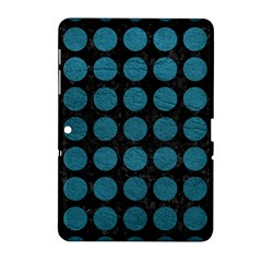 Circles1 Black Marble & Teal Leather (r) Samsung Galaxy Tab 2 (10 1 ) P5100 Hardshell Case  by trendistuff