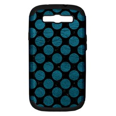Circles2 Black Marble & Teal Leather (r) Samsung Galaxy S Iii Hardshell Case (pc+silicone) by trendistuff