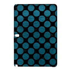 Circles2 Black Marble & Teal Leather (r) Samsung Galaxy Tab Pro 12 2 Hardshell Case by trendistuff