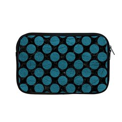 Circles2 Black Marble & Teal Leather (r) Apple Macbook Pro 13  Zipper Case by trendistuff