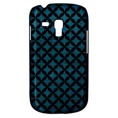 Circles3 Black Marble & Teal Leather Galaxy S3 Mini by trendistuff