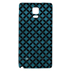 Circles3 Black Marble & Teal Leather Galaxy Note 4 Back Case