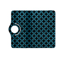 Circles3 Black Marble & Teal Leather (r) Kindle Fire Hdx 8 9  Flip 360 Case by trendistuff