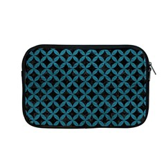 Circles3 Black Marble & Teal Leather (r) Apple Macbook Pro 13  Zipper Case by trendistuff