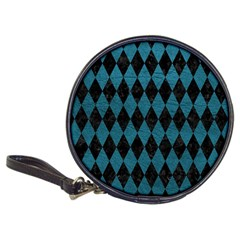 Diamond1 Black Marble & Teal Leather Classic 20 Cd Wallets by trendistuff