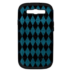 Diamond1 Black Marble & Teal Leather Samsung Galaxy S Iii Hardshell Case (pc+silicone) by trendistuff