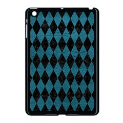 Diamond1 Black Marble & Teal Leather Apple Ipad Mini Case (black) by trendistuff
