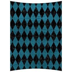 Diamond1 Black Marble & Teal Leather Back Support Cushion by trendistuff