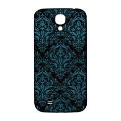 Damask1 Black Marble & Teal Leather (r) Samsung Galaxy S4 I9500/i9505  Hardshell Back Case by trendistuff