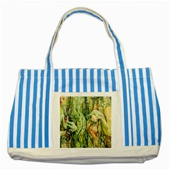 Chung Chao Yi Automatic Drawing Striped Blue Tote Bag by Celenk