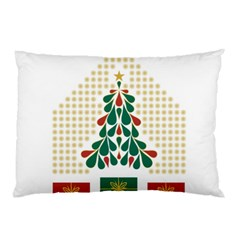 Christmas Tree Present House Star Pillow Case by Celenk