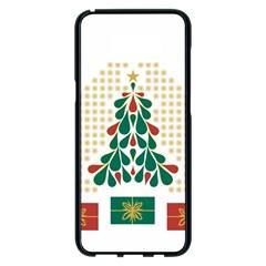 Christmas Tree Present House Star Samsung Galaxy S8 Plus Black Seamless Case