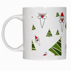 Christmas Santa Claus Decoration White Mugs by Celenk