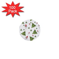 Christmas Santa Claus Decoration 1  Mini Buttons (100 Pack)  by Celenk