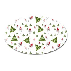 Christmas Santa Claus Decoration Oval Magnet by Celenk