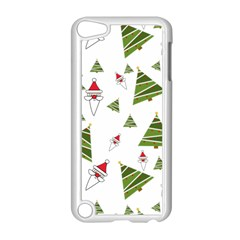 Christmas Santa Claus Decoration Apple Ipod Touch 5 Case (white) by Celenk
