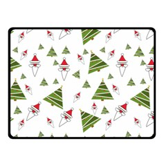 Christmas Santa Claus Decoration Double Sided Fleece Blanket (small)