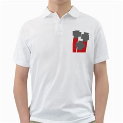 Cross Abstract Shape Line Golf Shirts