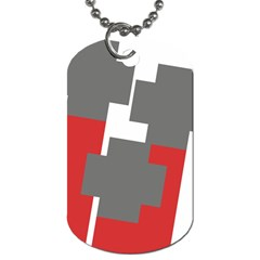 Cross Abstract Shape Line Dog Tag (two Sides) by Celenk