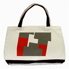Cross Abstract Shape Line Basic Tote Bag by Celenk