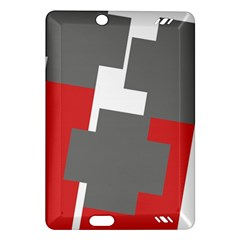 Cross Abstract Shape Line Amazon Kindle Fire Hd (2013) Hardshell Case by Celenk