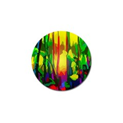 Abstract Vibrant Colour Botany Golf Ball Marker (4 Pack)