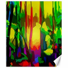 Abstract Vibrant Colour Botany Canvas 20  X 24   by Celenk