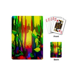 Abstract Vibrant Colour Botany Playing Cards (mini)  by Celenk