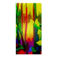 Abstract Vibrant Colour Botany Shower Curtain 36  X 72  (stall)