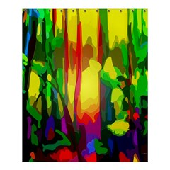 Abstract Vibrant Colour Botany Shower Curtain 60  X 72  (medium)  by Celenk